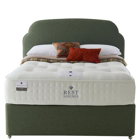 BWC Plain Divan Set With Firm Tension Double Mattress Silver