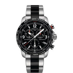 DS Podium Chronograph Watch Silver + Black PVD