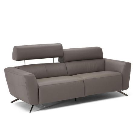 C013 Sorpresa Leather Split Sofa With Recliners 15D1 Grey