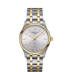 DS-4 Gents Watch Silver + Yellow Gold PVD