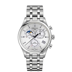 DS-8 Chronograph Moon Phase Silver Dial Watch Silver