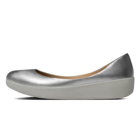 Leather Superballerina Silver
