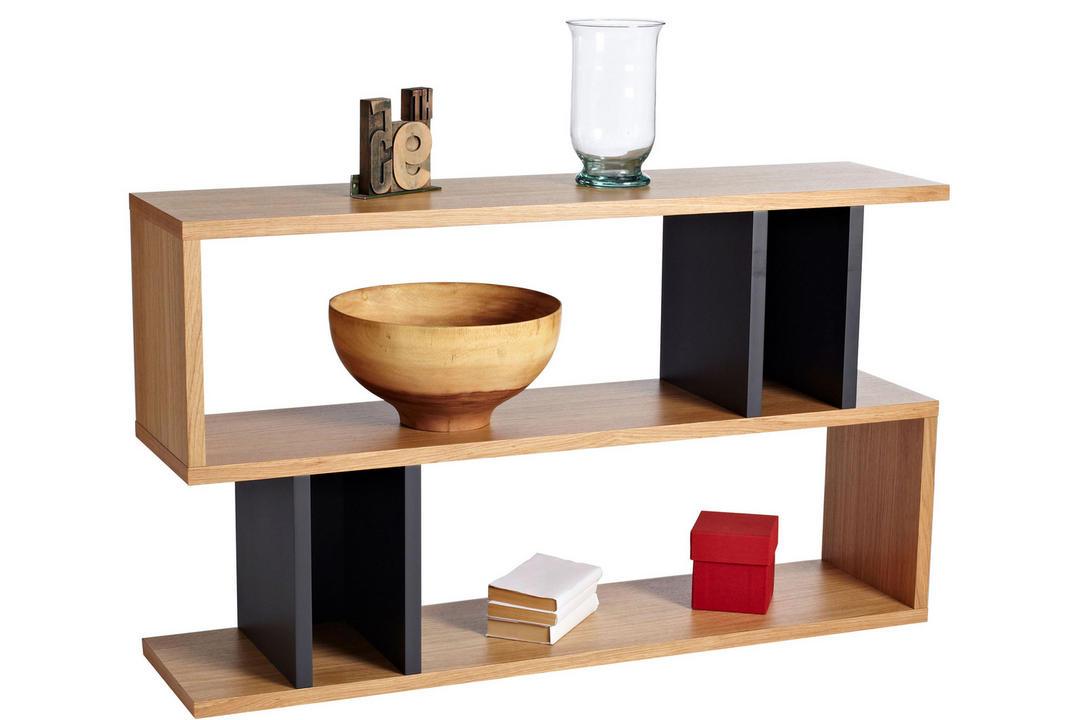 Counter Balance Low Shelving / Console Oak/Charcoal