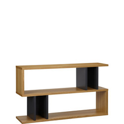 Counter Balance Low Shelving / Console Oak/Charcoal