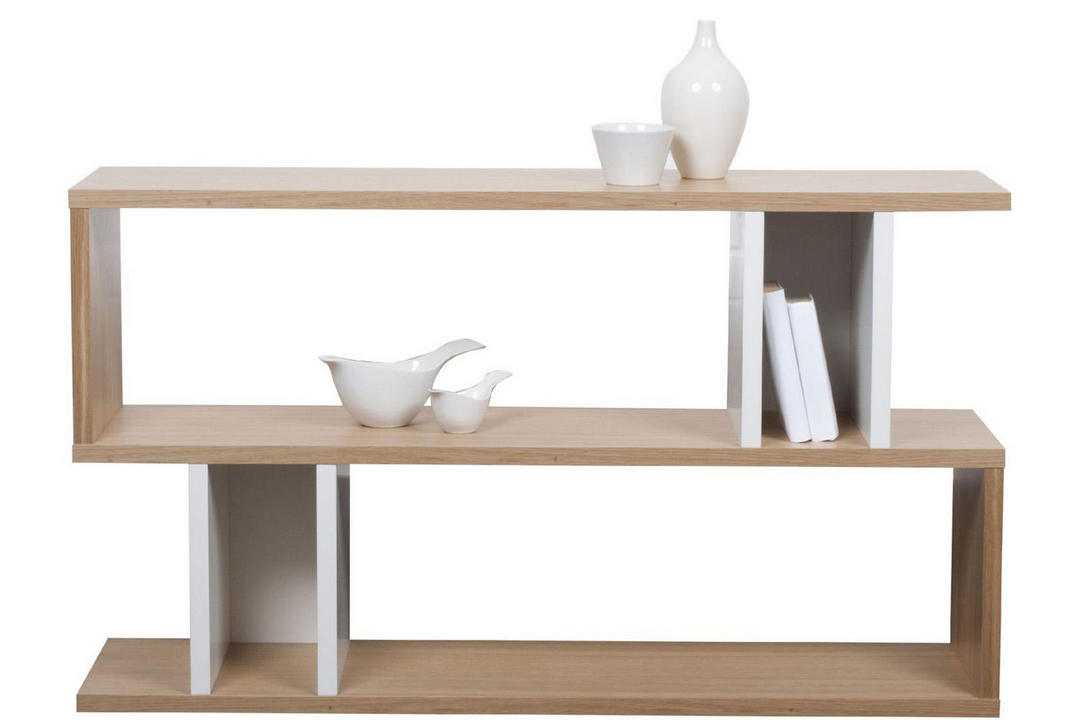 Counter Balance Low Shelving / Console Oak/White