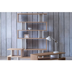 Counter Balance Tall Shelving Oak/White