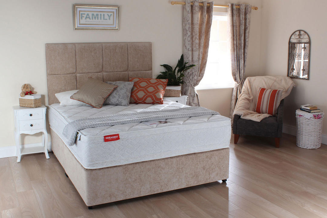 Cedar Ortho Plain Set With Castors And Mattress