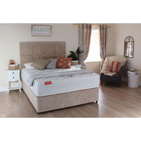 Cedar Ortho Plain Set With Castors And Single Mattress