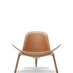 Shell Chair in Oak and Leather
