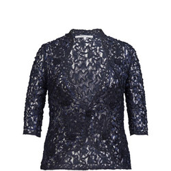 Navy Lace Cornelli Jacket