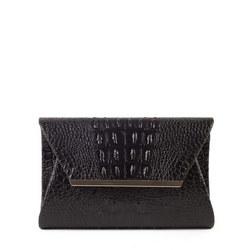Black Moc Croc Bag