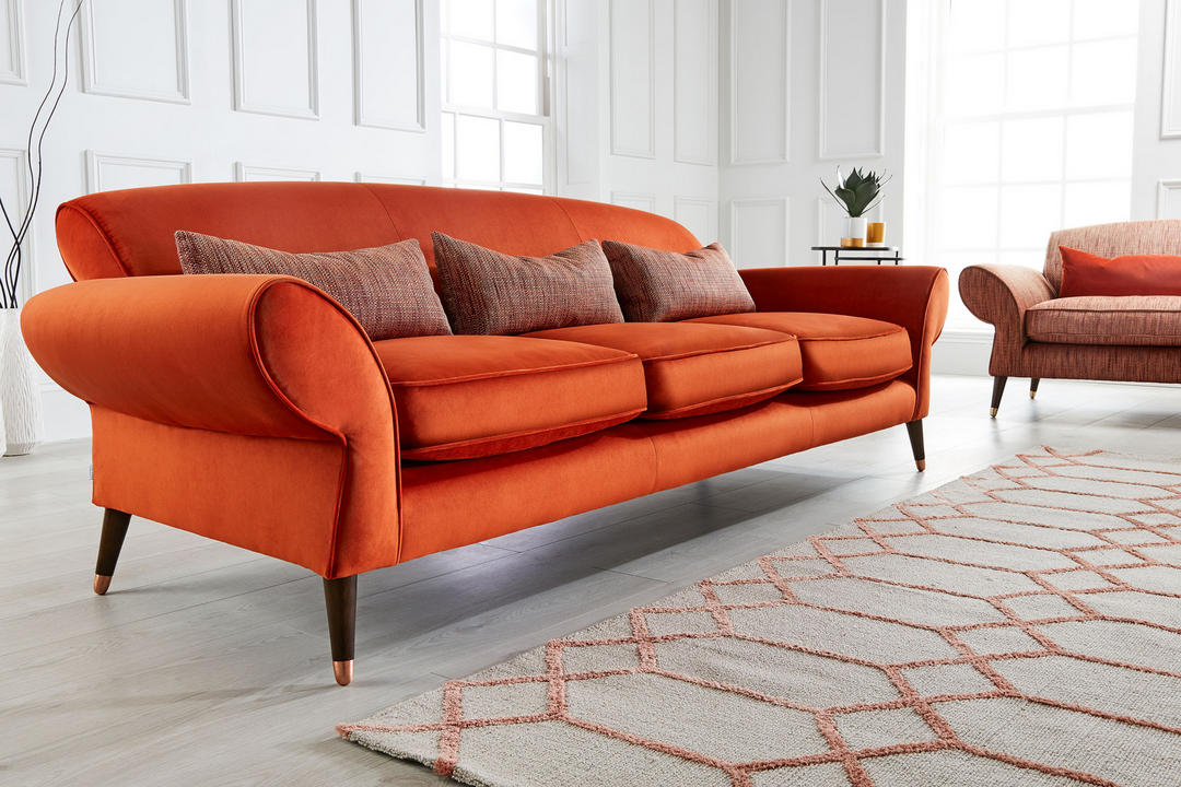 Chi Chi 3 Cushion Sofa Alder Paprika