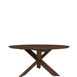 Circle Dining Table Walnut