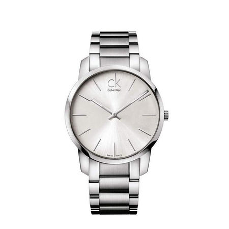 City Unisex Swiss Watch Silver