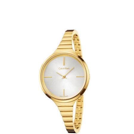 Lively Watch Gold With Silver Dial