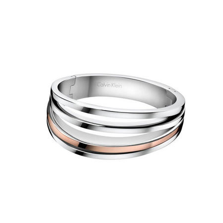 Breathe Bangle Stainless Steel/Rose Gold Pvd