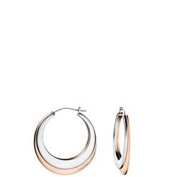 Breathe Earrings Stainless Steel/Rose Gold Pvd