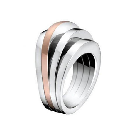 Breathe Ring Stainless Steel/Rose Gold Pvd