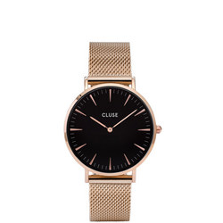 La Boheme Mesh Rose Gold/Black
