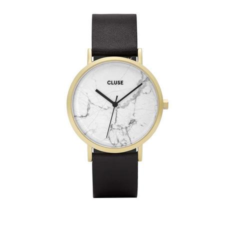 La Roche Gold White Marble/Black