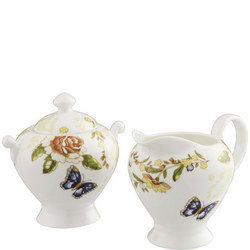Cottage Garden Cream & Sugar