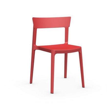 Skin Chair Set Of 4 Red