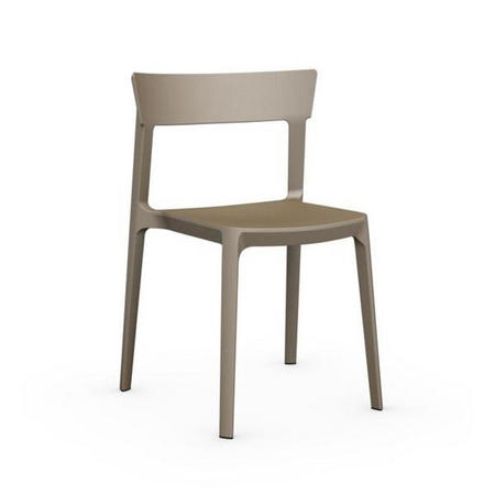 Skin Chair Set Of 4 Taupe