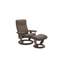 Stressless Dover Chair + Stool, Classic Base