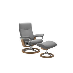 Stressless Dover Chair + Stool, Signature Base