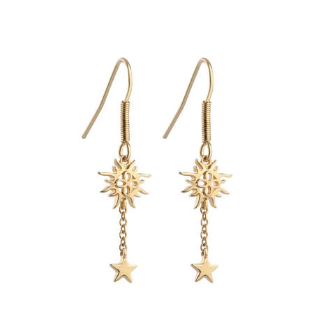 Amy Huberman Drop Earrings with Sun and Stars