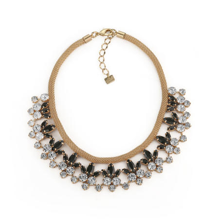 Necklace Clear And Black Stones