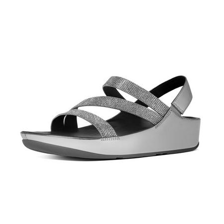 Crystall Z-strap SDL Flat Sandals Pewter