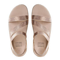 Crystall Z-Strap Sandal Rose Gold