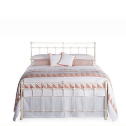 Edwardian Bedstead Glossy Ivory King (5ft)