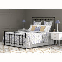 Edwardian Bedstead Satin Black Double (4ft6)