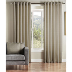 Rib Plain Curtains Pewter