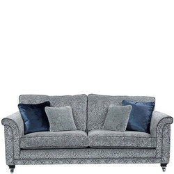 Fleming Sofa, 8817 Silver/Iron Devani Medallion