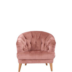 Florence Armchair Plush Velvet Rose