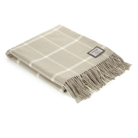 Bone Windowpane Throw Bone/White