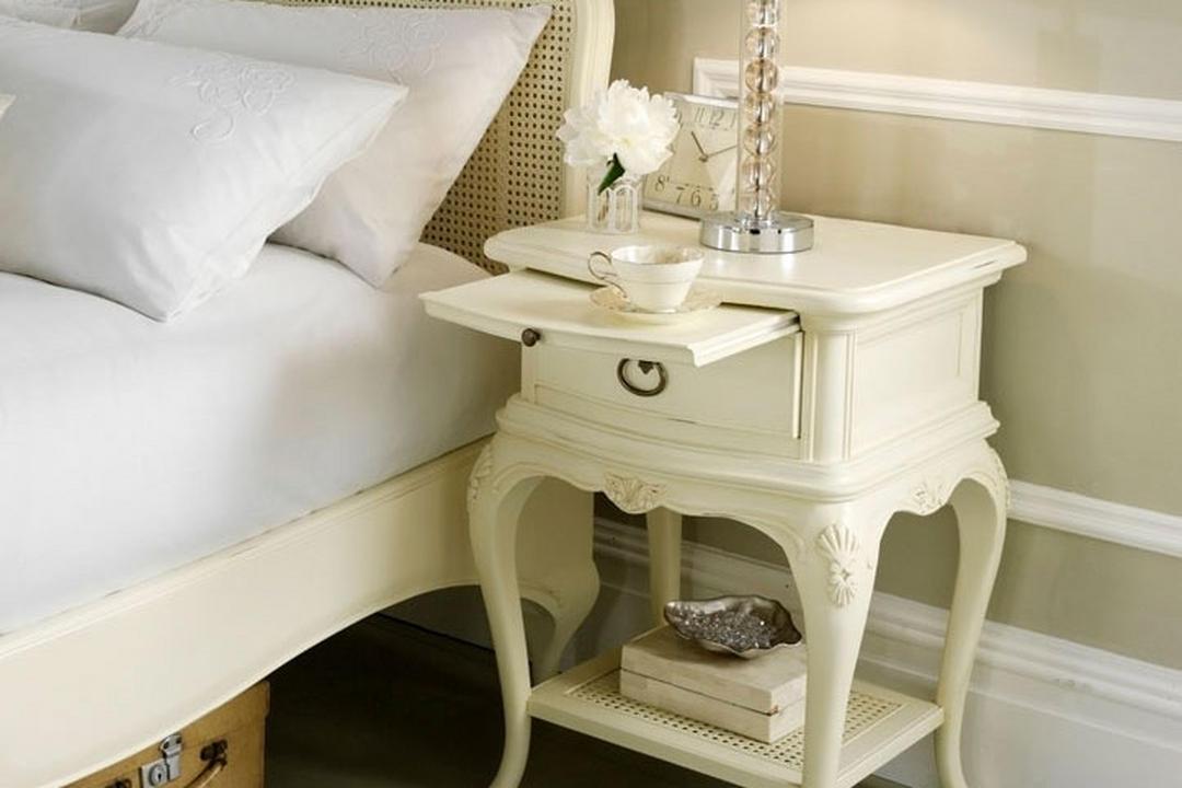 Ivory Single Bedside Chest