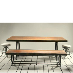 Iron Bench Wide Top