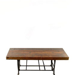 Iron Coffee Table Wide Top