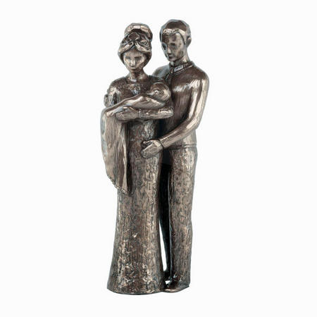 Love Life Your Christening Bronze Figurine