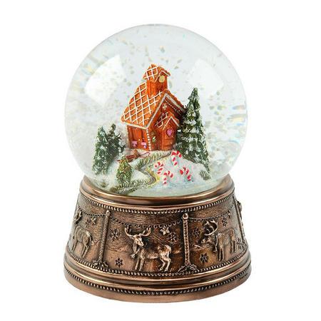 Gingerbread House Snow Globe Ornament