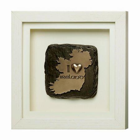 I Love Ireland Framed Bronze Plaque
