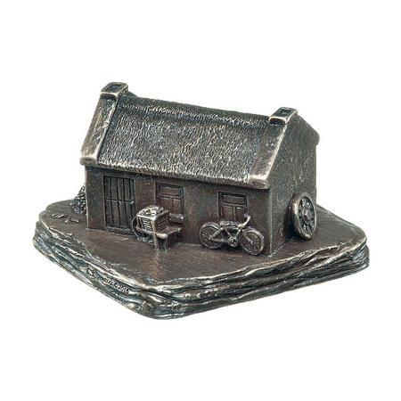 Irish Cottage Bronze Figurine