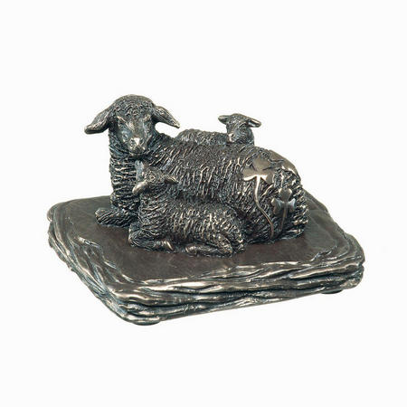 Irish Sheep Figurine