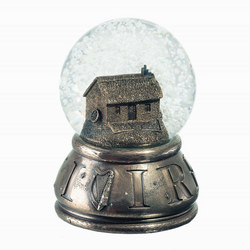Irish Cottage Snow Globe