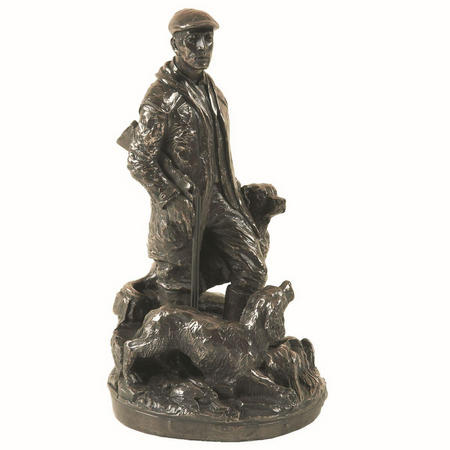The Game-Keeper Bronze Figurine