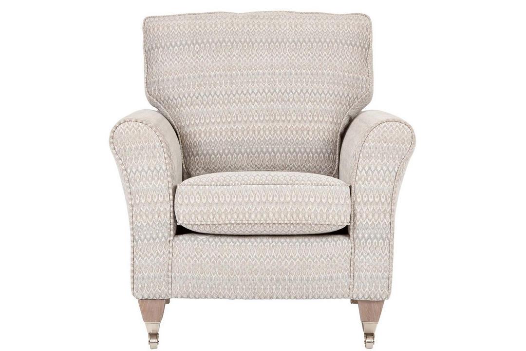 Georgia Accent Chair, Smokestone Diamond Stripe